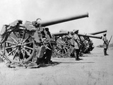 WWII Africa Italy Eritrea Captured Guns Photographic Print by  Anonymous