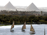 Mideast Egypt Pyramids Photographic Print by Amr Nabil