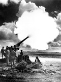 WWII U.S. Army Artillery Testing Photographic Print by  Anonymous