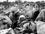 U.S. Marine Wounded Vietnam War Photographic Print by  Associated Press