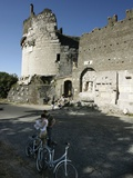 Travel Trip Appian Way Photographic Print by Andrew Medichini