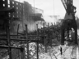 WWII London Bomb Damage Photographic Print by  Anonymous