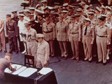 WWII Japan Surrender Ceremony Photographic Print by  Anonymous
