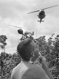 Vietnam War US Shaving Photographic Print by Horst Faas