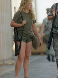 Saudi Arabia Army U.S. Troops Women Marine Lance Corporal Tamera Rowbotham Photographic Print by  Anonymous