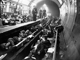 WWII Sheltering Aldwych Photographic Print