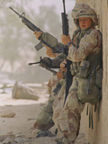 Saudi Arabia Army U.S Forces Maneuver Exercise Kuwait Crisis Photographic Print by David Longstreath