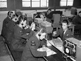 WWII Britain Wireless Operators Photographic Print by  Anonymous