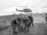 Vietnam War S U.S. Soldiers Wounded Photographic Print by  Associated Press
