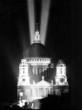 WWII VE Day London St. Pauls Photographic Print by  Anonymous