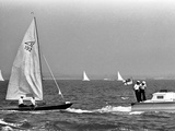 Cowes Prince Philip and Uffa Fox Photographic Print by  Anonymous