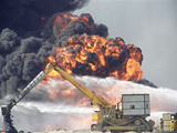 1991 Gulf War Oil Fires Photographic Print by John Gaps III