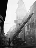 WWII London Fire Fighters Photographic Print by  Anonymous