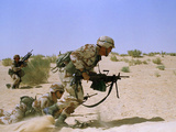 Saudi Arabia Army U.S Forces Maneuver Exercise Kuwait Crisis Photographic Print by Tannen Maury