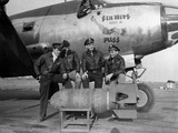 WWII Europe England U.S. Air Force Pilot Crews Photographic Print by  HWC
