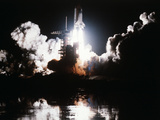 Challenger Liftoff 1983 Lmina fotogrfica