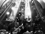 WWII Escalator Shelter 1940 Photographic Print by  Anonymous