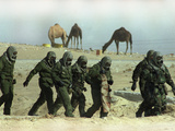 Saudu Arabia Army U.S. Marines Chemical Suits and Masks Warfare Photographic Print by Diether Endlicher