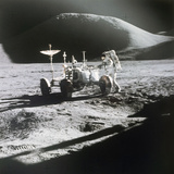 Apollo 15 Moonwalk 1971 Photographic Print