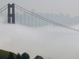 Golden Gate Bridge Fog Photographic Print by Paul Sakuma