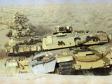 British Tanks in Saudi Arabia Photographic Print by Diether Endlicher