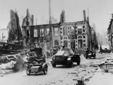 WWII Damaged French Town Photographic Print by  Anonymous