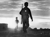 Vietnam War Montagnard Patrol Photographic Print by Eddie Adams