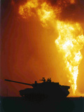 Kuwait Burning Oil Well Photographic Print by Roberto Borea