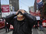 APTOPIX Bolivia Protest Photographic Print by Juan Karita
