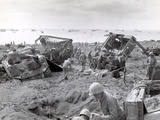WWII U.S. Invasion Iwo Jima Photographic Print by  Anonymous