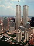 New York Landmarks Twin Towers Photographic Print by Ed Bailey