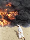 1991 Gulf War Oil Fires Photographic Print by Peter Dejong