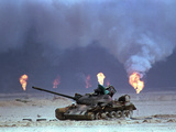 Gulf War Iraqi Tank Photographic Print by David Longstreath