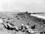 WWII Iwo Jima U.S. Invasion Photographic Print by Joe Rosenthal