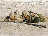 Saudi Arabia Army U.S Forces Maneuver Exercise Kuwait Crisis Photographic Print by Peter Dejong