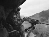 Vietnam War US Helicopter Gunner Photographic Print by Henri Huet