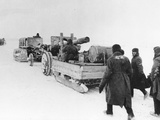 WWII Red Army Winter Advance Photographic Print by  Anonymous