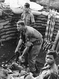 Vietnam War Mortar Photographic Print by Eddie Adams