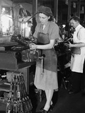 WWII England Women at Work Photographic Print by  Anonymous