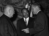 MLK Spellman Rockefeller 1962 Photographic Print by  Associated Press
