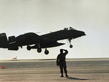 Saudi Arabia Army U.S. Forces A10 Warthog Attack Plane Kuwait Crisis Photographic Print by  Anonymous