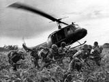 Vietnam War U.S. Army Helicopter Photographic Print by Nick Ut