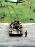Vietnam Capture Tanks Photographic Print by Yves Billy
