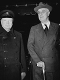 Winston Churchill and Franklin D Roosevelt Photographie par  Anonymous