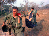 Vietnam Wounded Photographic Print by  Associated Press