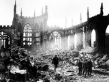 WWII Coventry Cathedral Bombing Photographic Print by  Anonymous