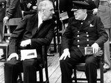 WWII Conference FDR Churchill Photographic Print by  Anonymous