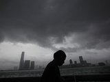 APTOPIX Hong Kong Asia Typhoon Photographic Print by Vincent Yu