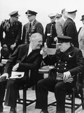 WWII Roosevelt Churchill Photographic Print by  Anonymous