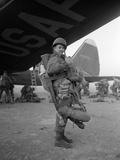Korean War Paratrooper 1951 Photographic Print by James Martenhoff